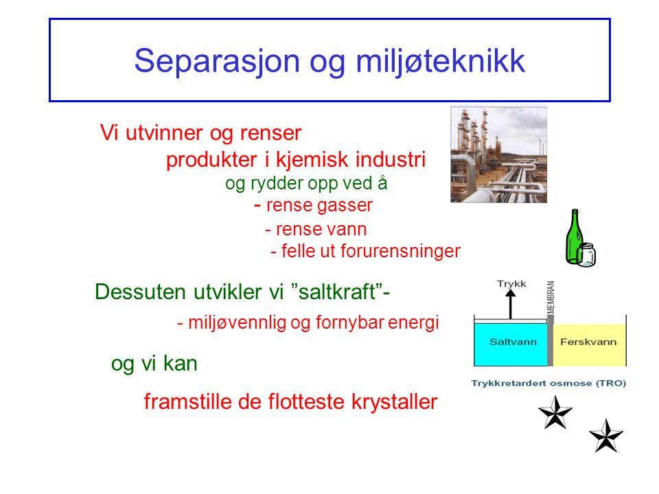 Separasjon og miljøteknikk