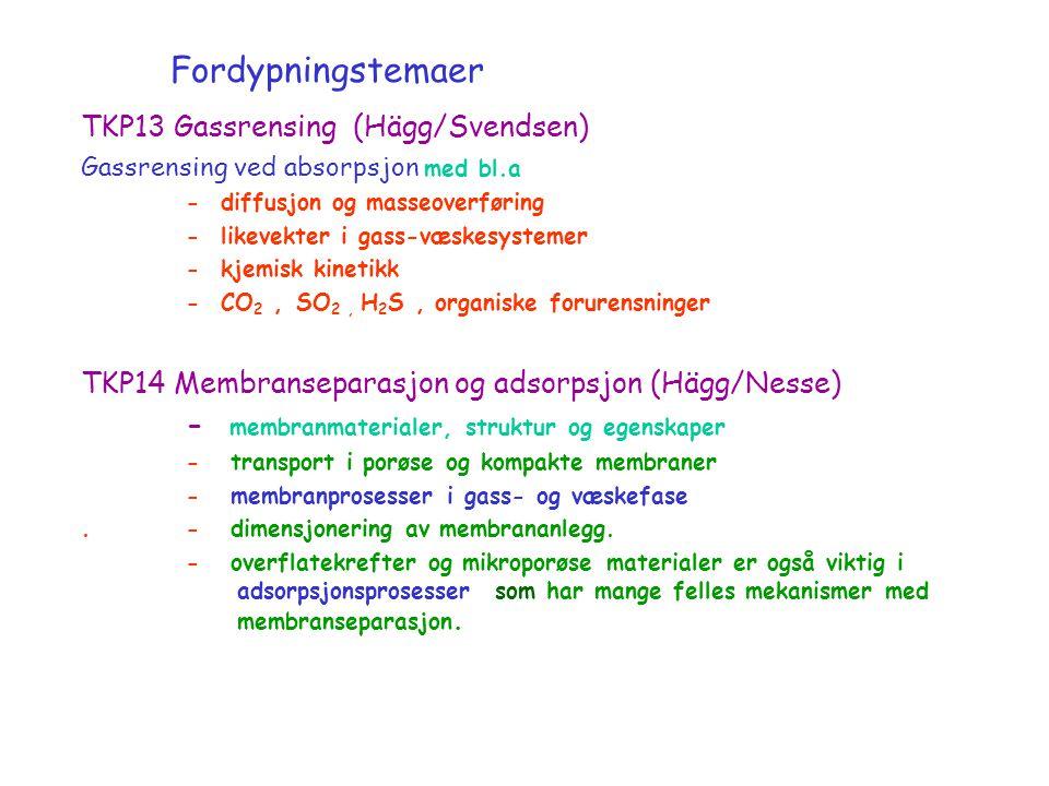 Fordypningstemaer TKP13 Gassrensing (Hägg/Svendsen)