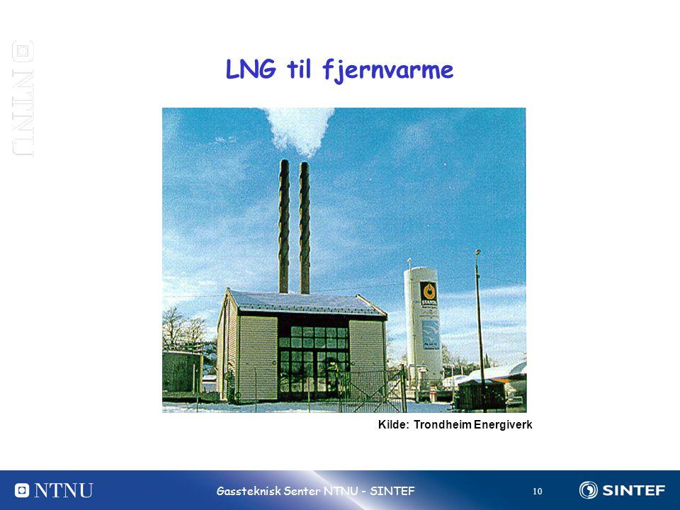 LNG til fjernvarme Kilde: Trondheim Energiverk