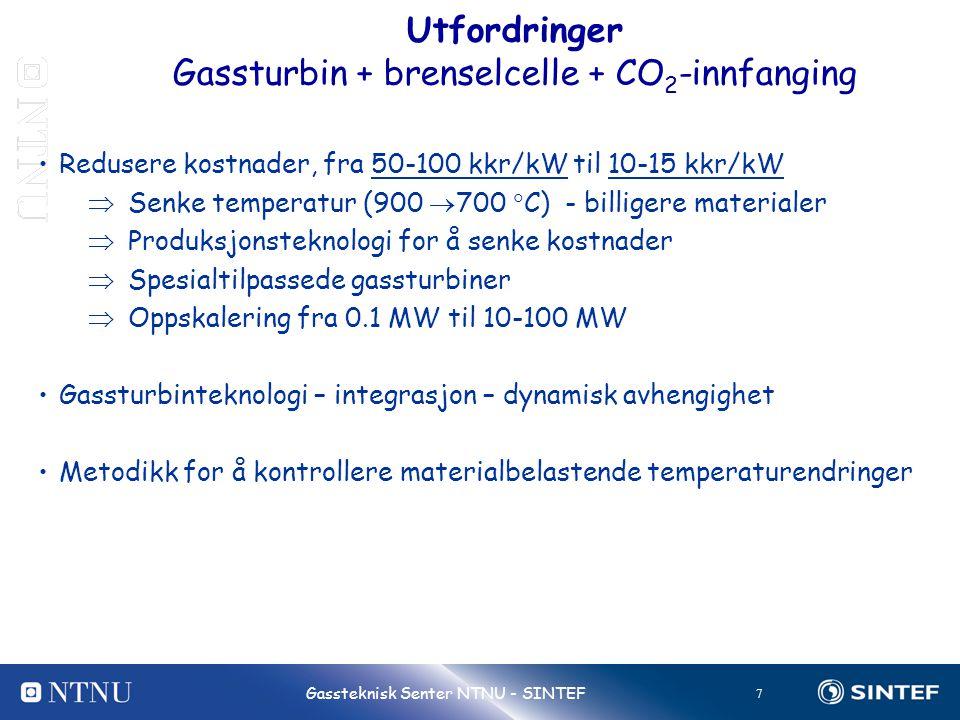 Gassturbin + brenselcelle + CO2-innfanging
