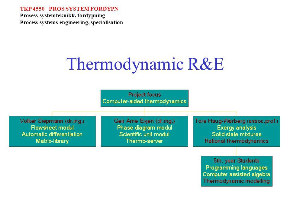 TKP 4550 PROS SYSTEM FORDYPN Prosess-systemteknikk, fordypning Process systems engineering, specialisation