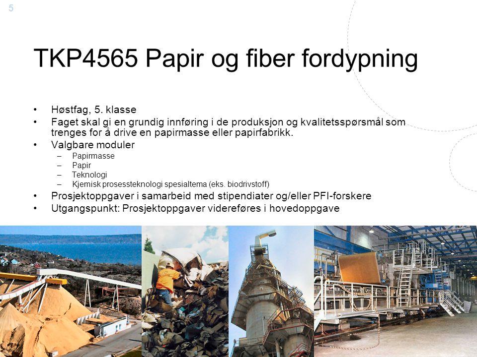 TKP4565 Papir og fiber fordypning