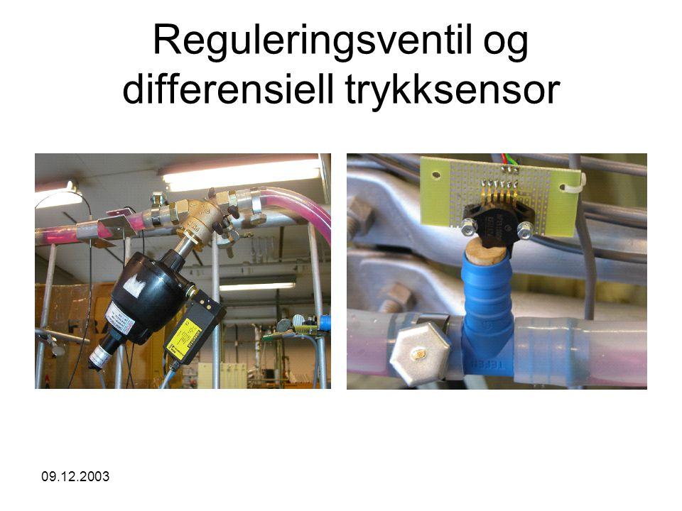 Reguleringsventil og differensiell trykksensor