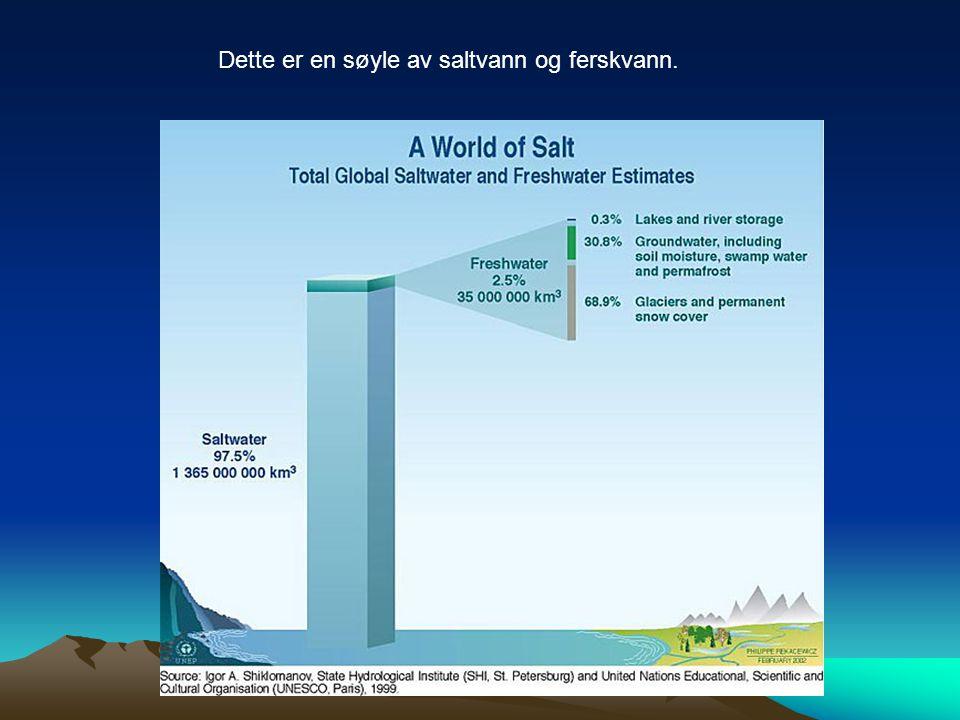 Dette er en søyle av saltvann og ferskvann.