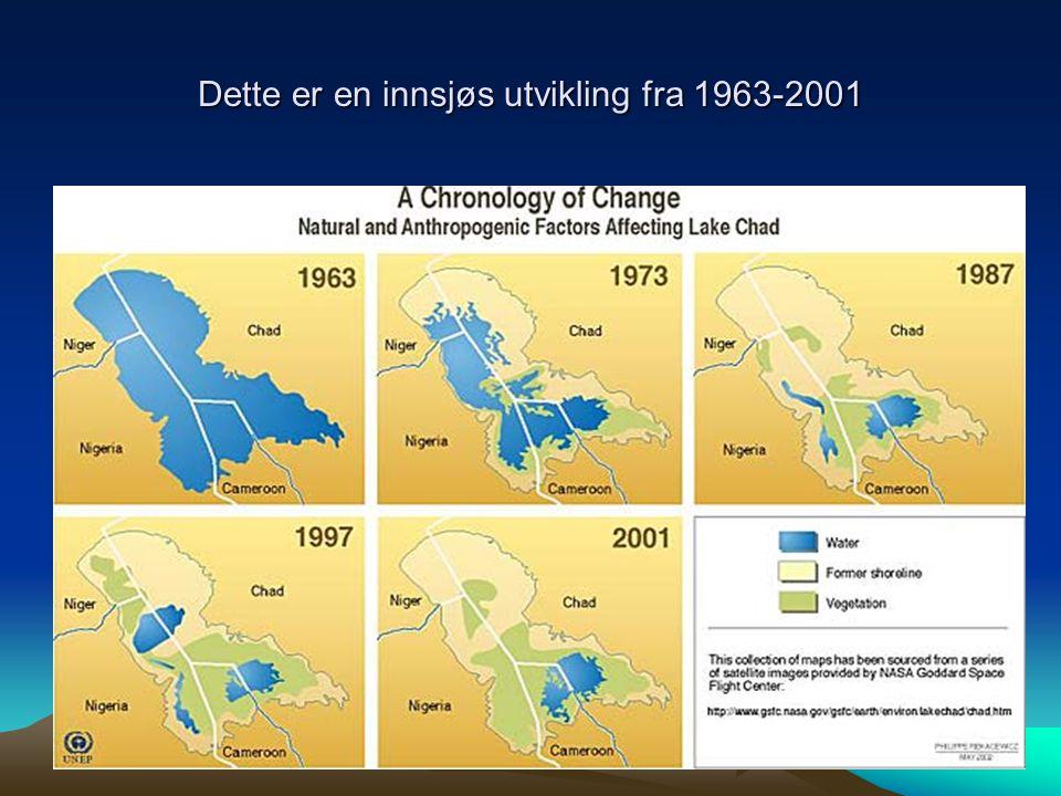 Dette er en innsjøs utvikling fra 1963-2001