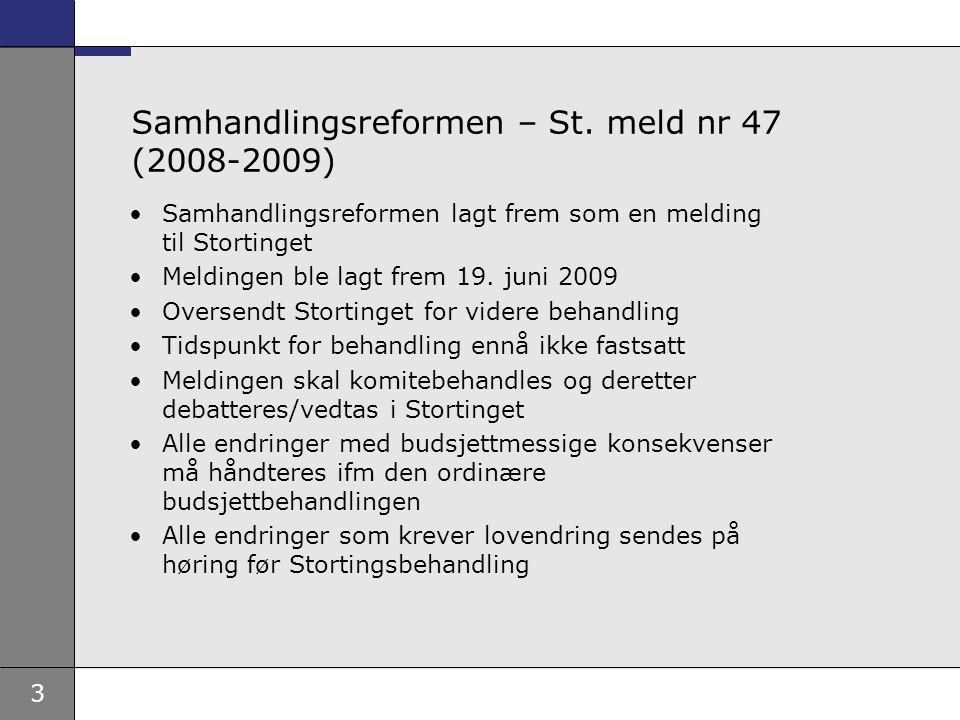 Samhandlingsreformen – St. meld nr 47 (2008-2009)
