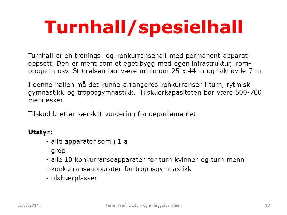 Turnhall/spesielhall