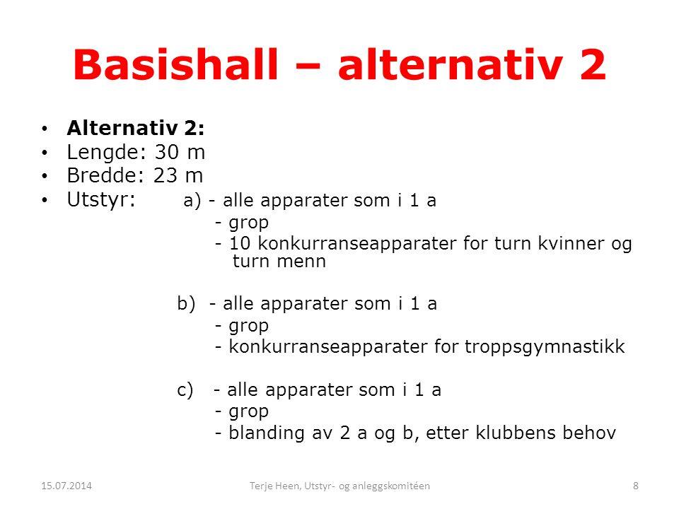 Basishall – alternativ 2