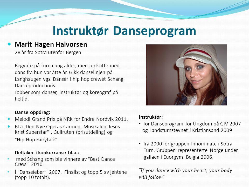 Instruktør Danseprogram