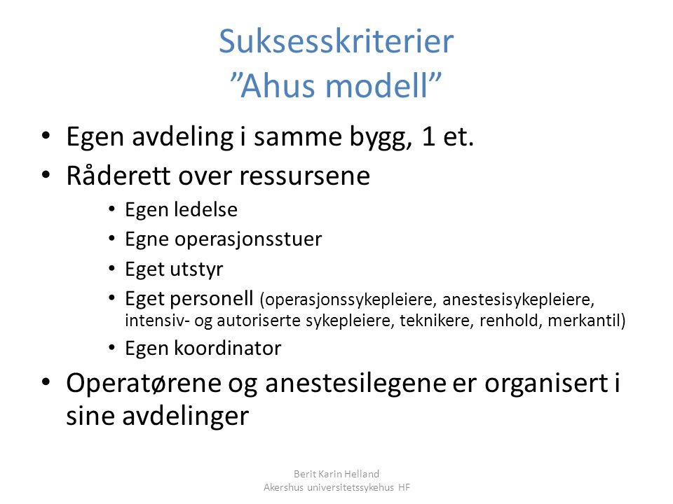 Suksesskriterier Ahus modell