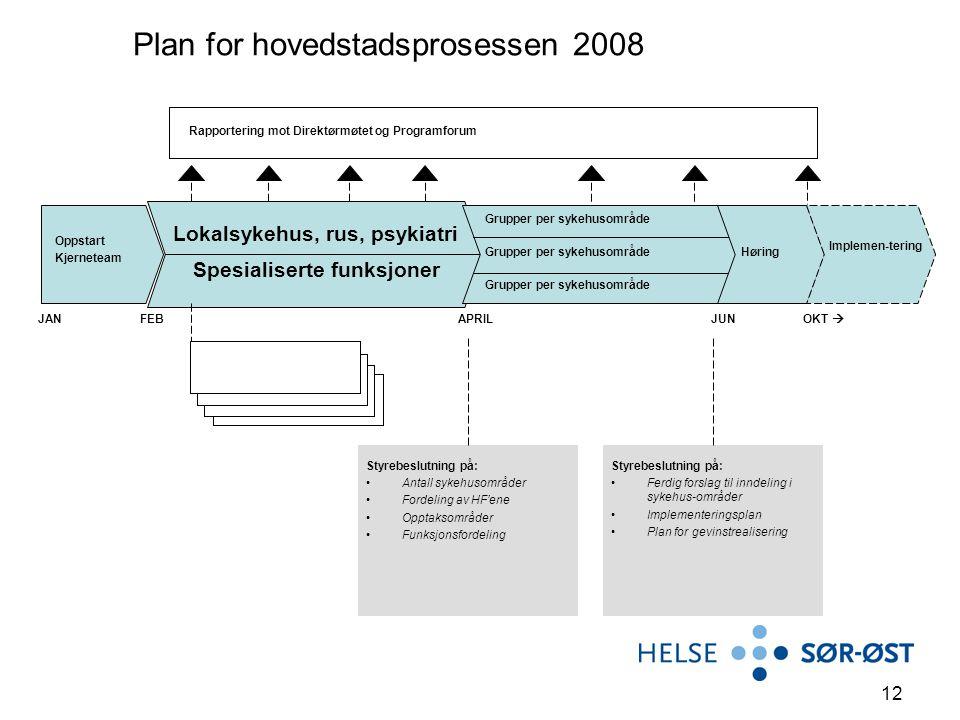 Plan for hovedstadsprosessen 2008
