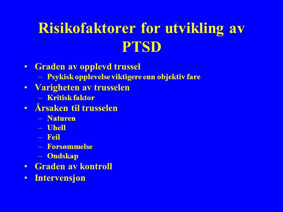 Risikofaktorer for utvikling av PTSD