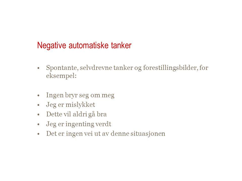 Negative automatiske tanker