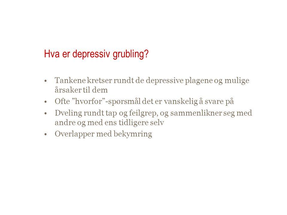 Hva er depressiv grubling