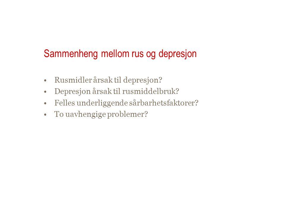 Sammenheng mellom rus og depresjon