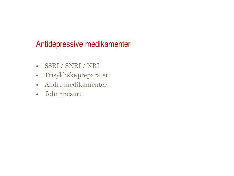 Antidepressive medikamenter