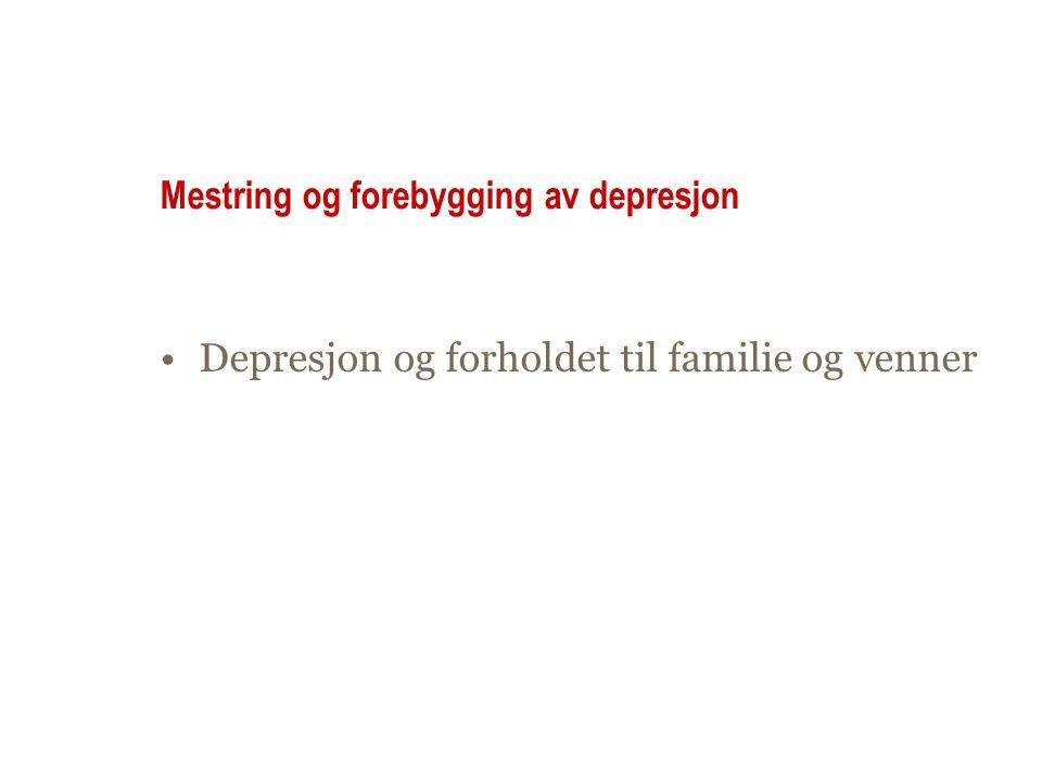 Mestring og forebygging av depresjon