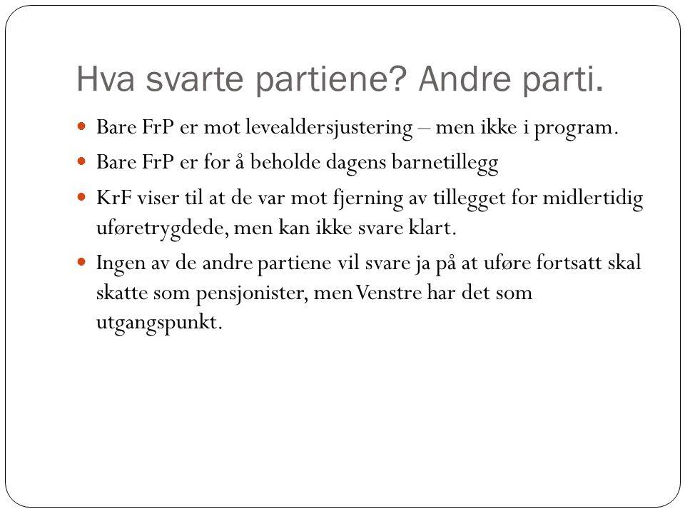 Hva svarte partiene Andre parti.