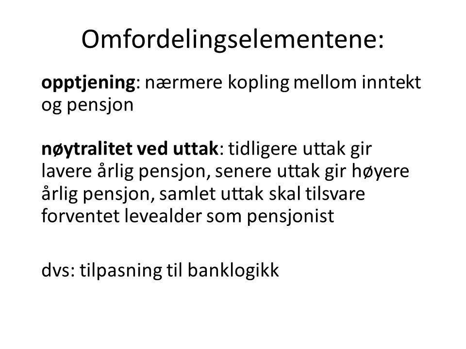Omfordelingselementene: