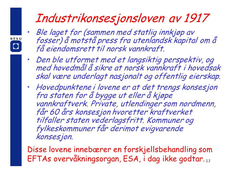 Industrikonsesjonsloven av 1917