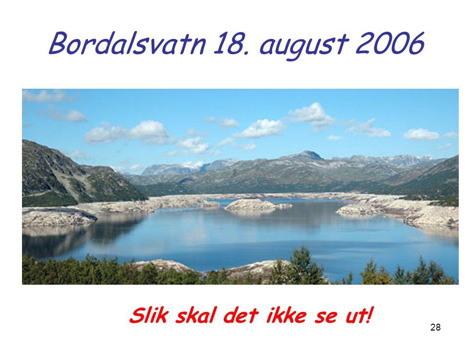 Bordalsvatn 18. august 2006 Slik skal det ikke se ut!