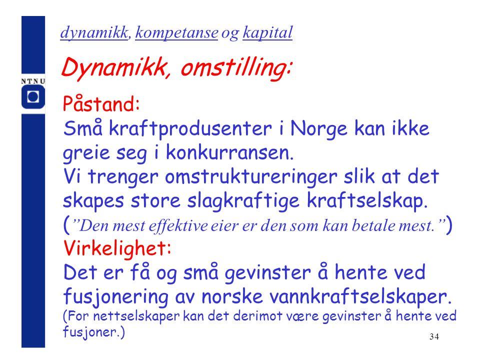 dynamikk, kompetanse og kapital