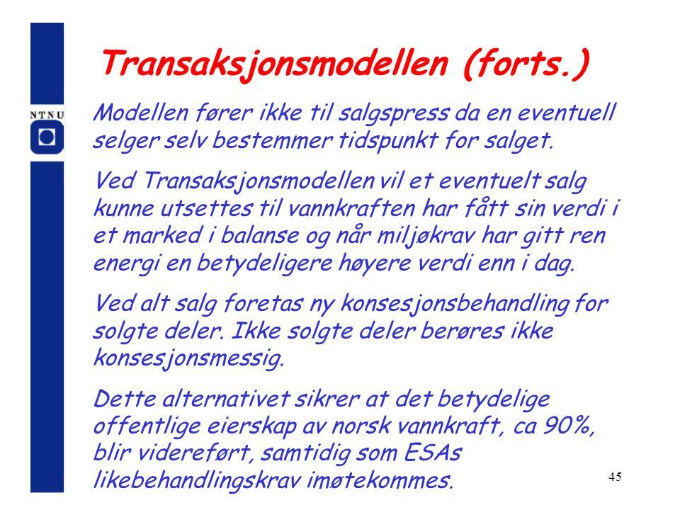 Transaksjonsmodellen (forts.)