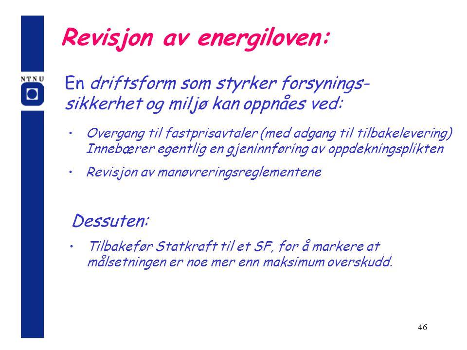 Revisjon av energiloven: