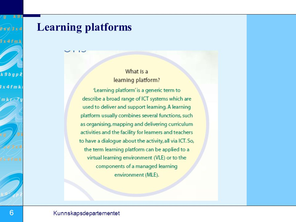 Learning platforms
