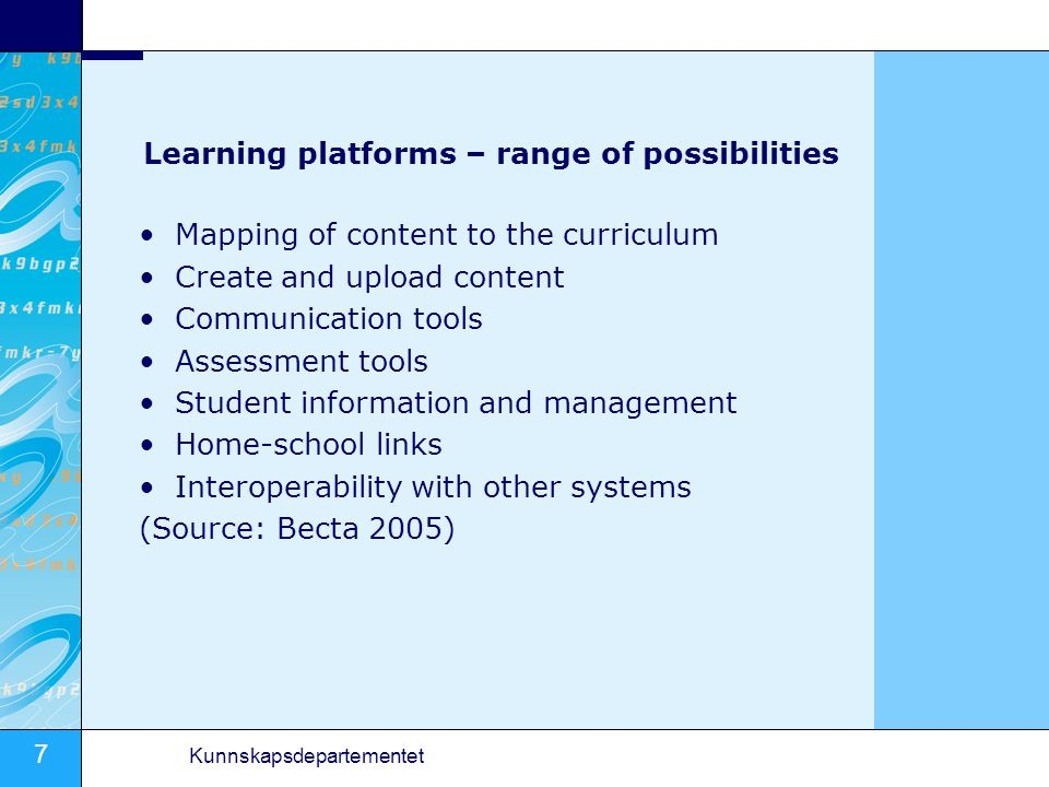 Learning platforms – range of possibilities