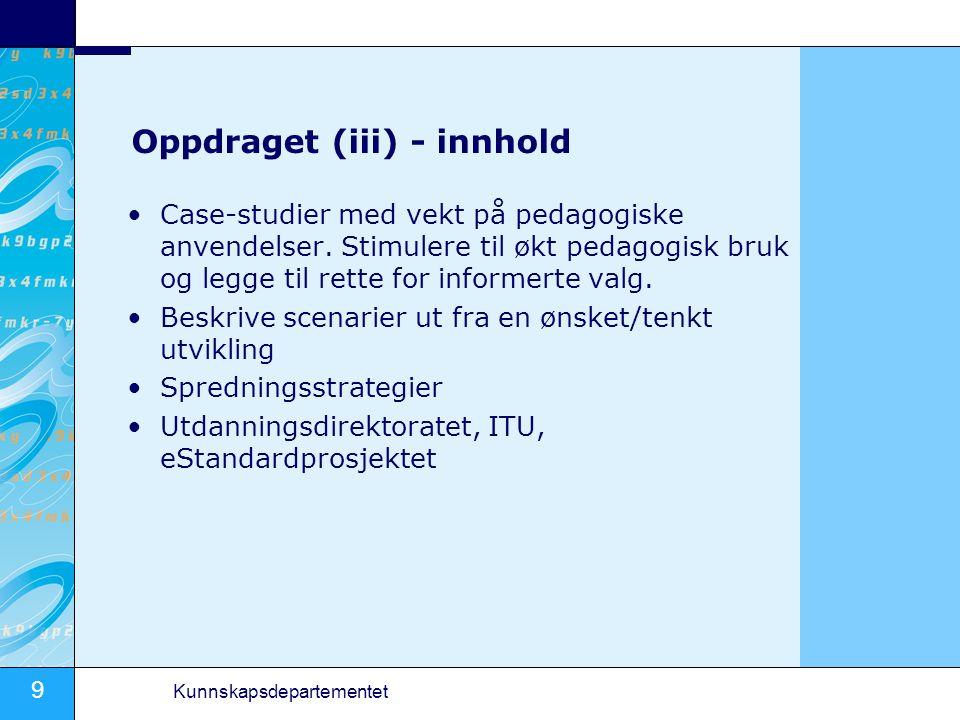 Oppdraget (iii) - innhold