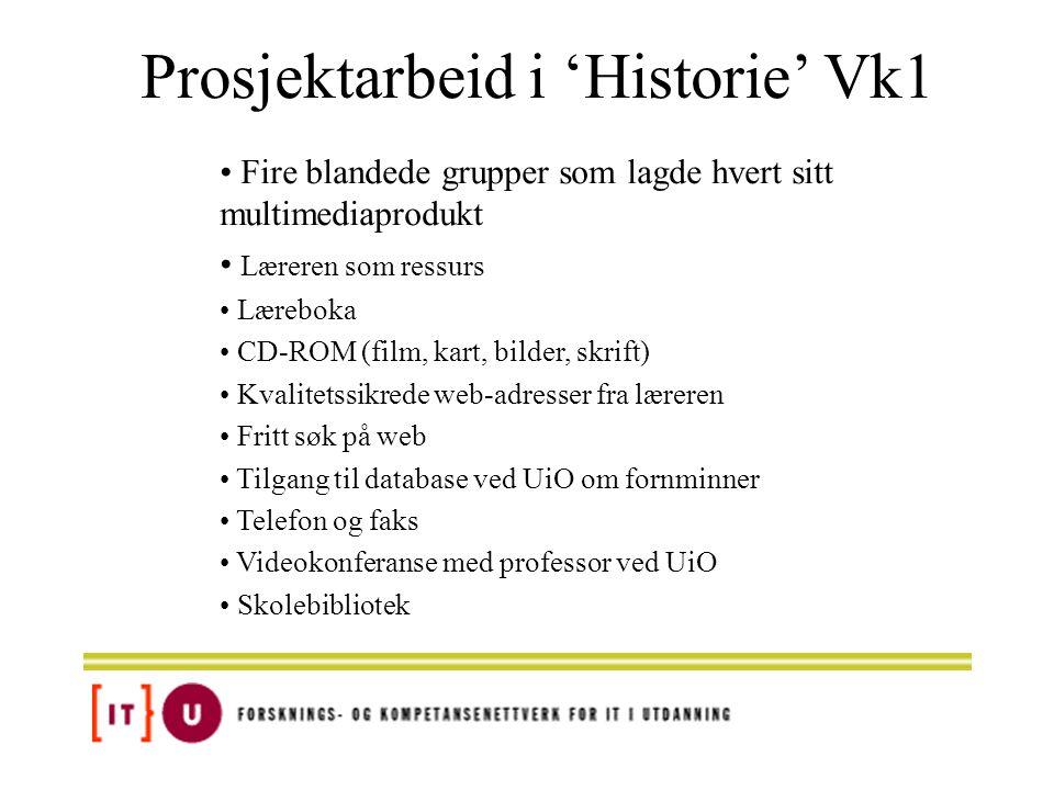 Prosjektarbeid i 'Historie' Vk1