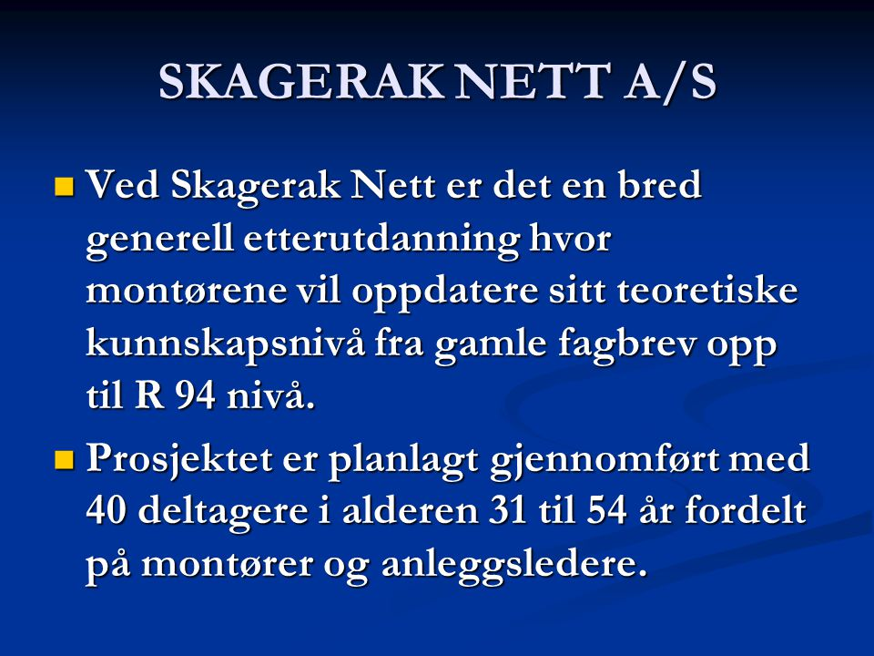 SKAGERAK NETT A/S