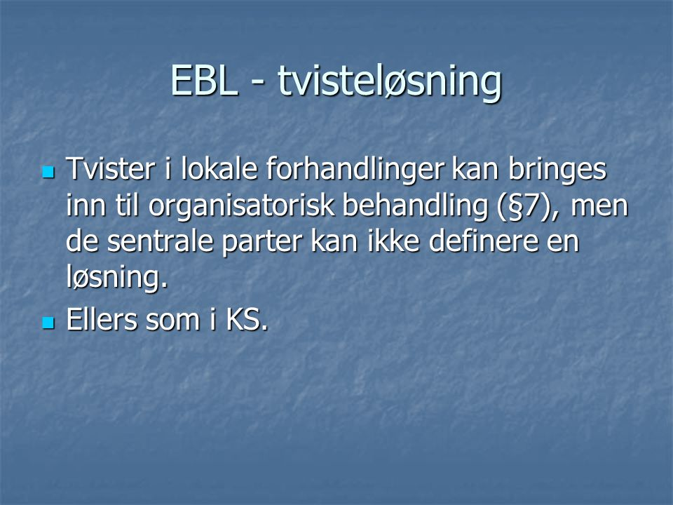 EBL - tvisteløsning