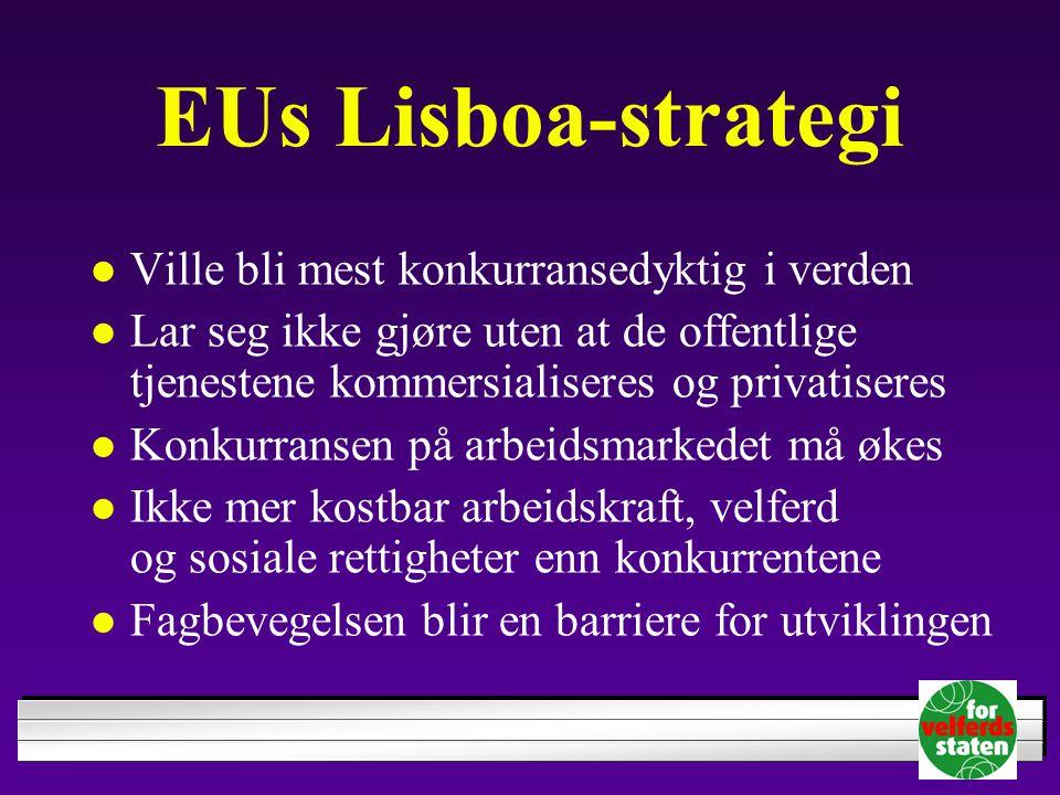EUs Lisboa-strategi Ville bli mest konkurransedyktig i verden