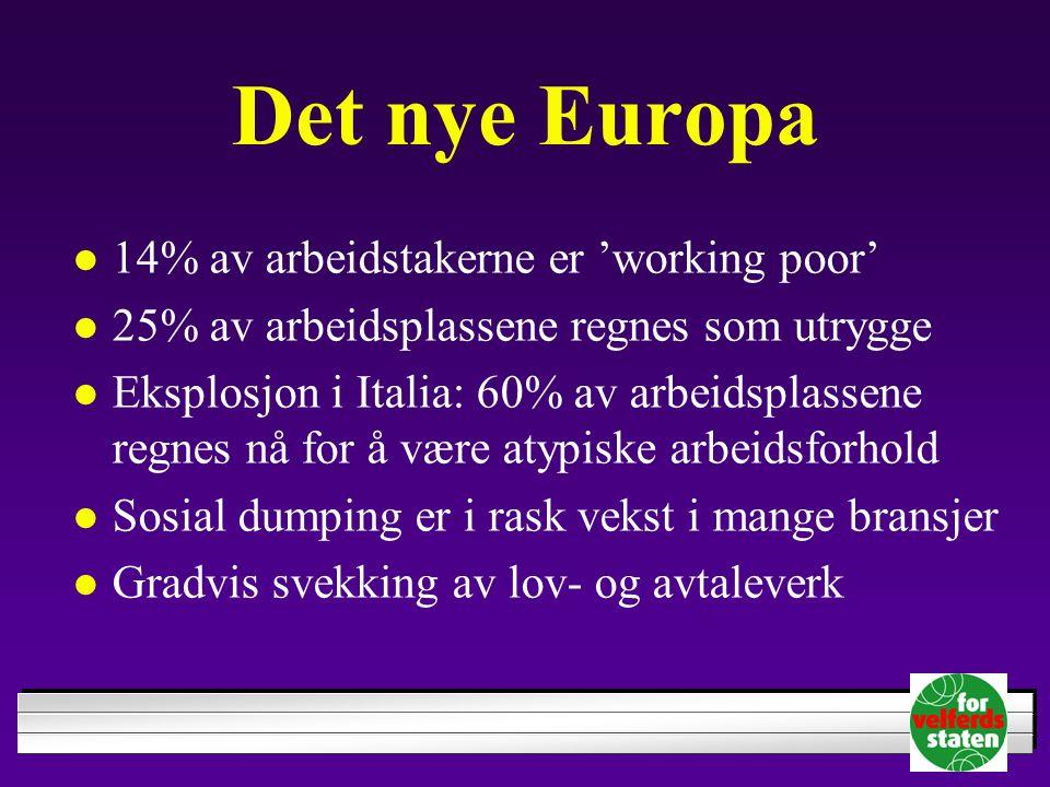 Det nye Europa 14% av arbeidstakerne er 'working poor'