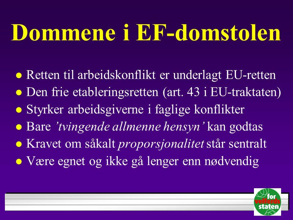 Dommene i EF-domstolen