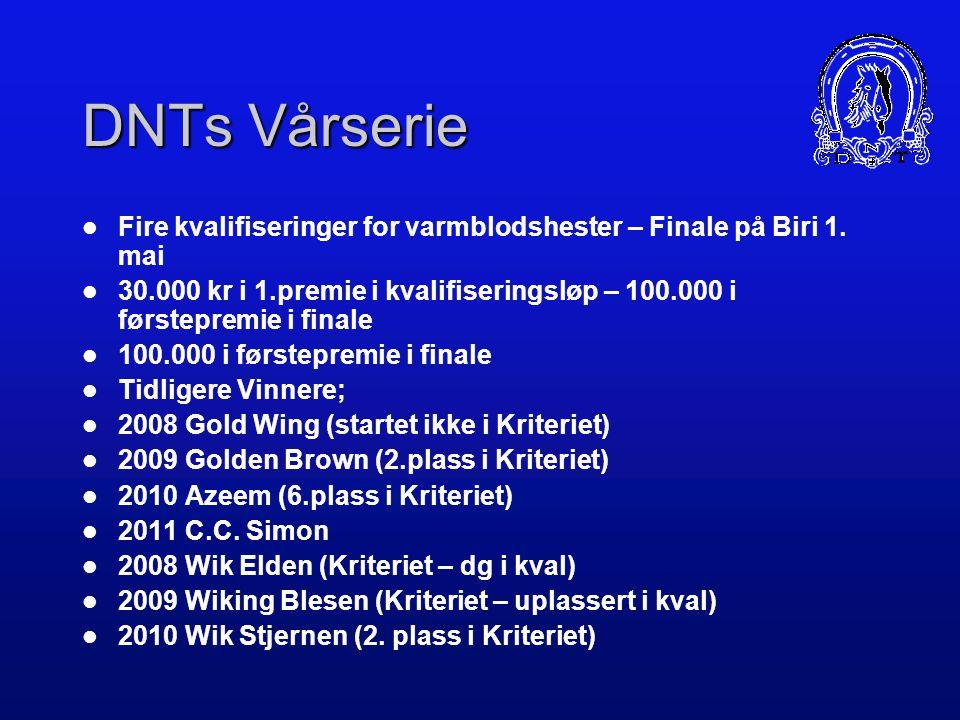 DNTs Vårserie Fire kvalifiseringer for varmblodshester – Finale på Biri 1. mai.