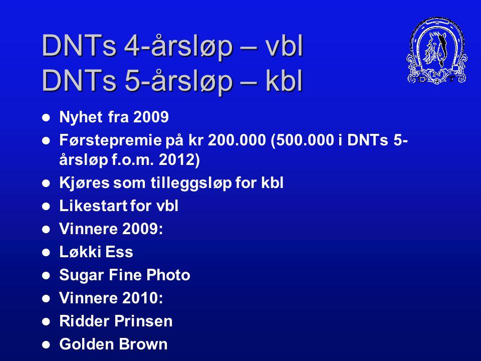 DNTs 4-årsløp – vbl DNTs 5-årsløp – kbl
