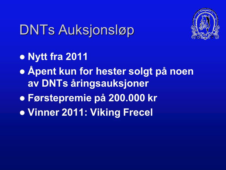 DNTs Auksjonsløp Nytt fra 2011