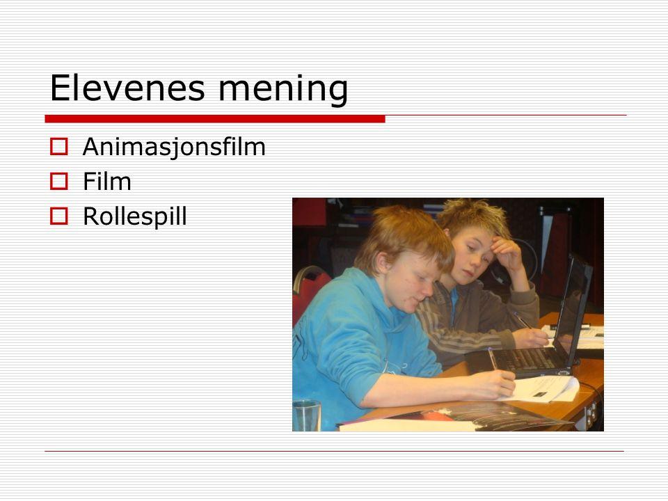 Elevenes mening Animasjonsfilm Film Rollespill