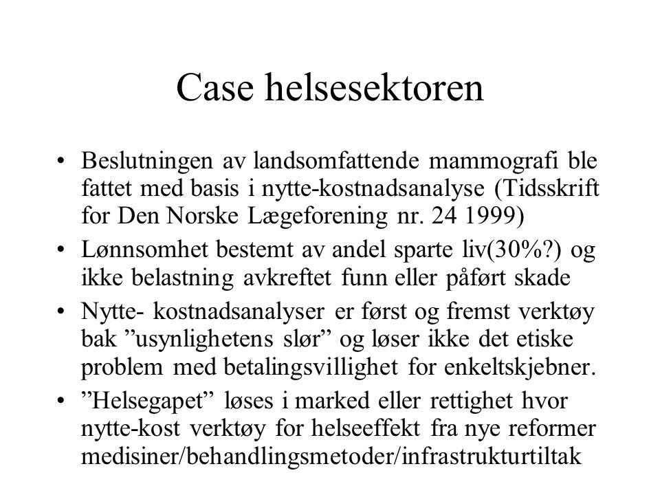 Case helsesektoren