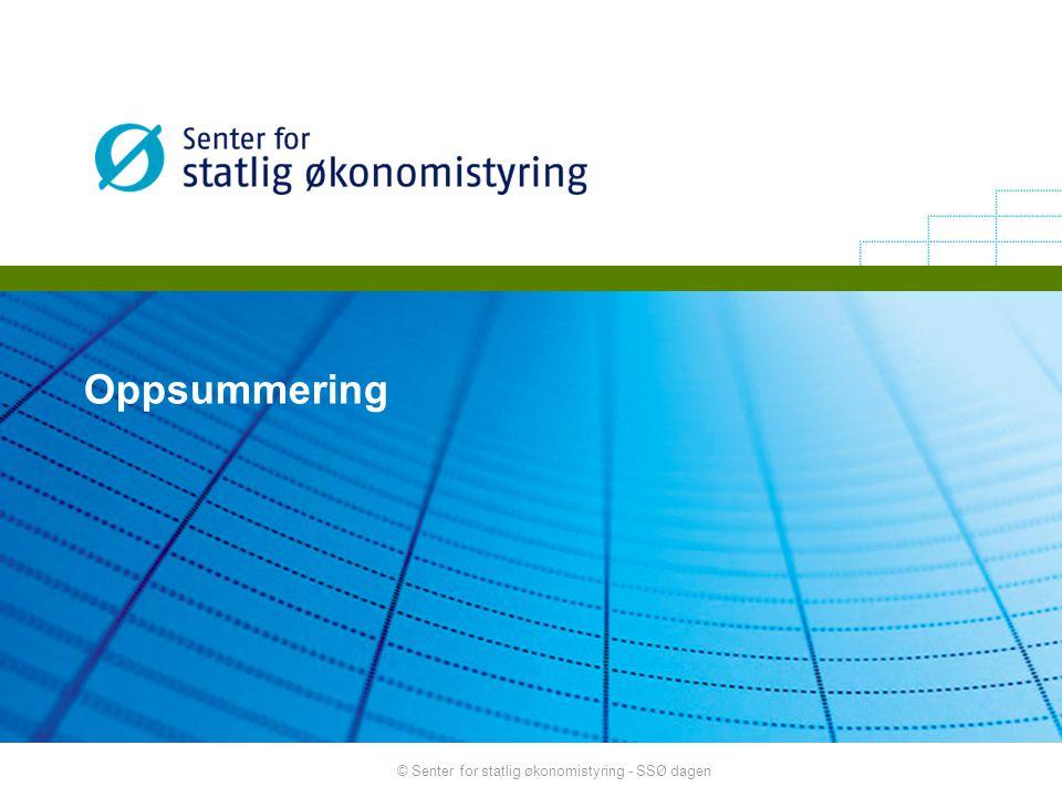Oppsummering © Senter for statlig økonomistyring - SSØ dagen