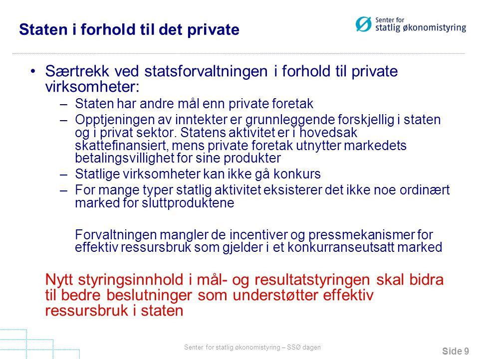 Staten i forhold til det private