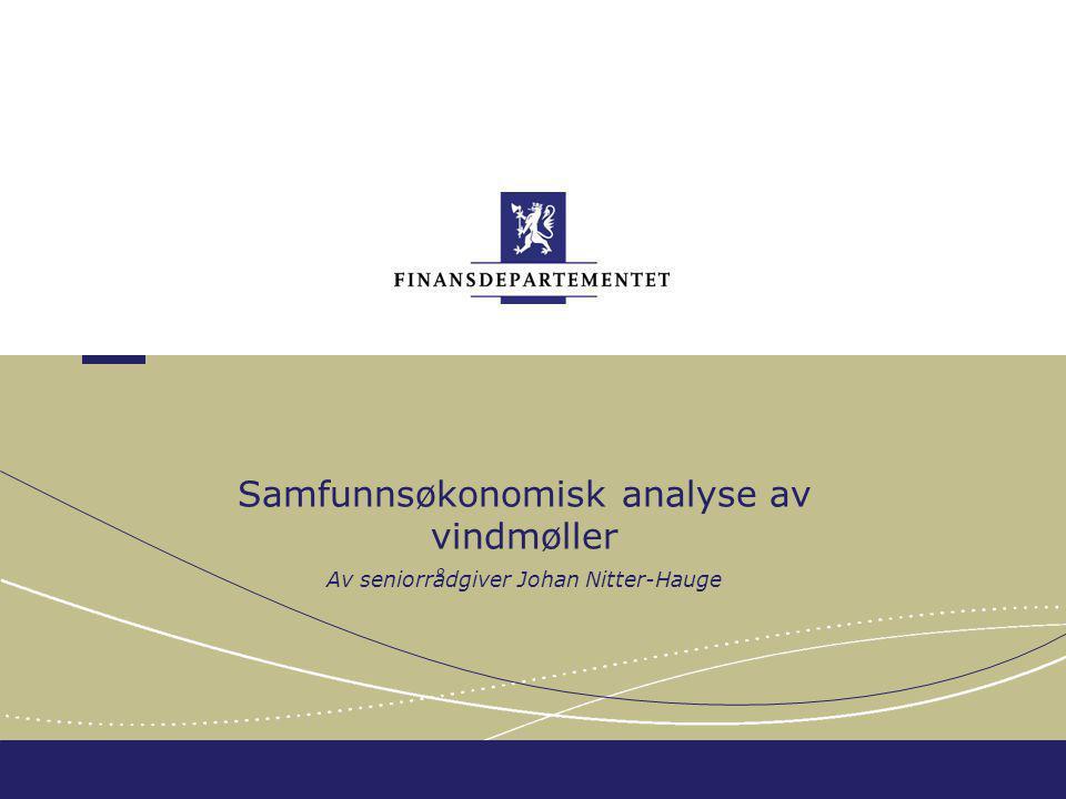 Samfunnsøkonomisk analyse av vindmøller