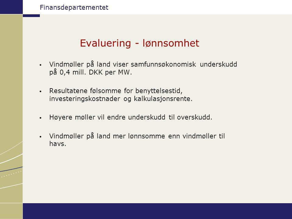 Evaluering - lønnsomhet