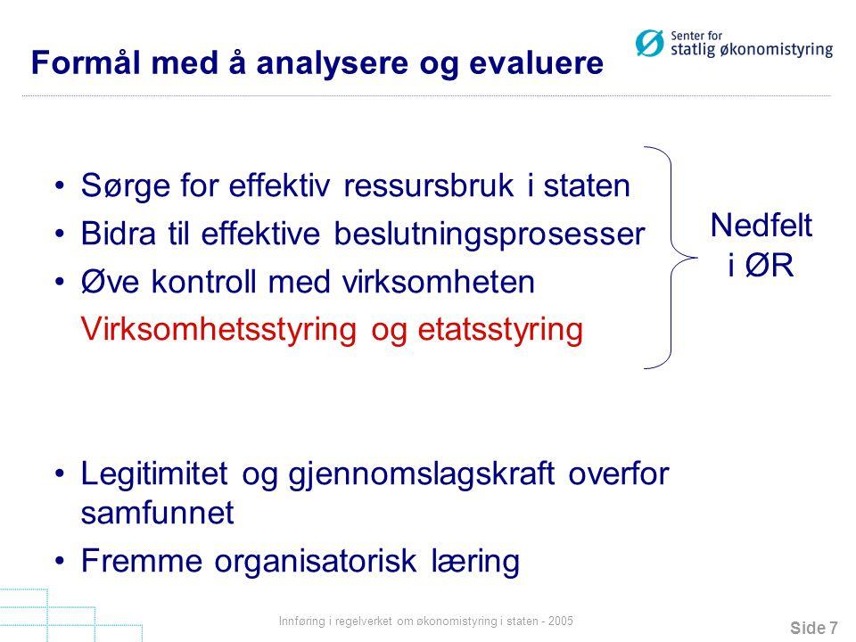 Formål med å analysere og evaluere