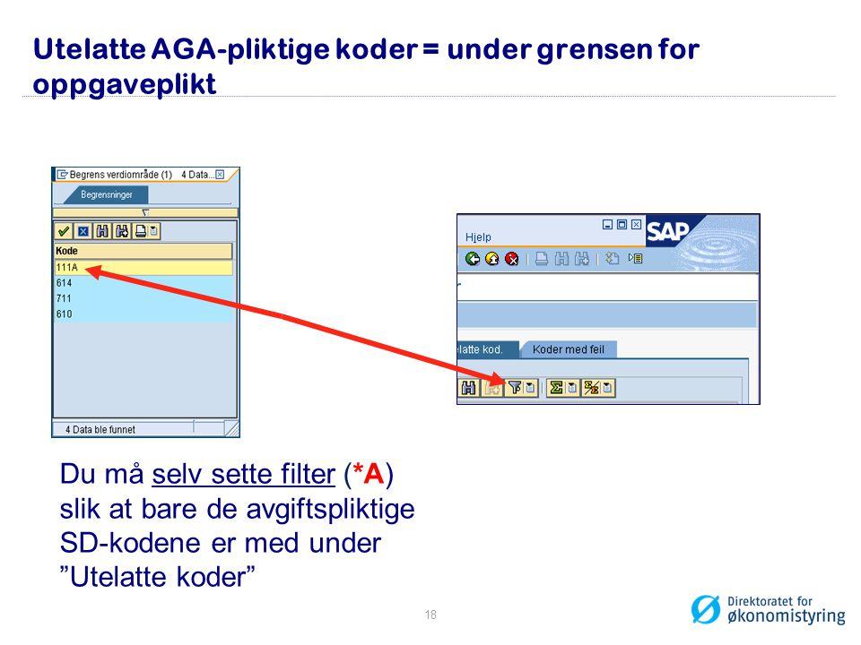 Utelatte AGA-pliktige koder = under grensen for oppgaveplikt