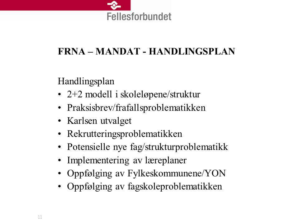 FRNA – MANDAT - HANDLINGSPLAN