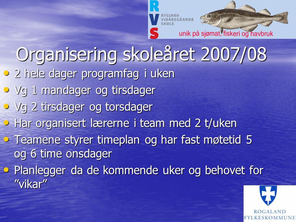 Organisering skoleåret 2007/08